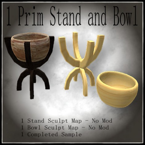 1 Prim STand and Bowl Poster