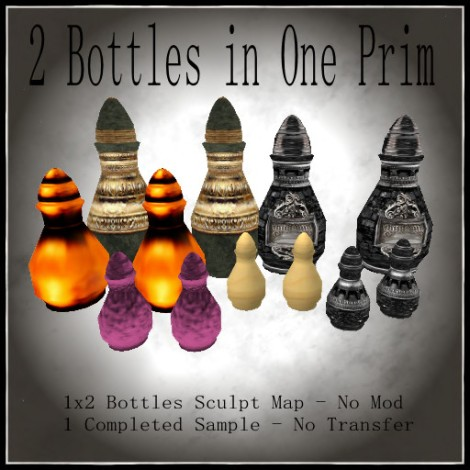 2 Bottles in One Prim Poster