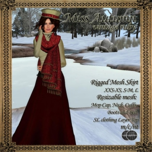 BMe Miss Autumn Vintage Ruby