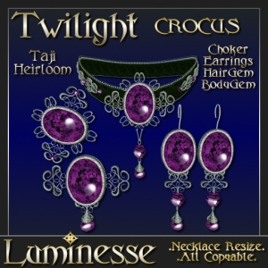 _LUM-TWILIGHT Taji Heirloom Crocus Choker Set