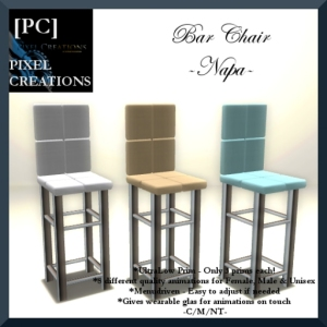 [PC] PIXEL CREATIONS - BAR CHAIR _NAPA_