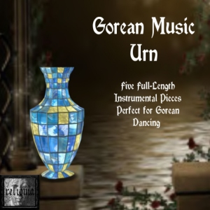 {r} Gorean Music Urn Blue & Gold