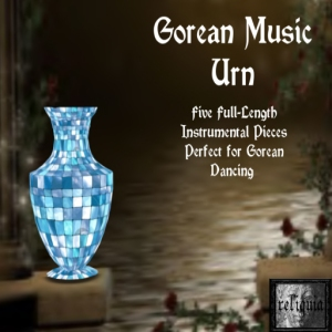 {r} Gorean Music Urn Blue Tiles