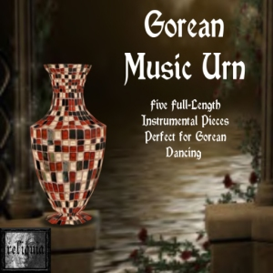 {r} Gorean Music Urn Red & Black