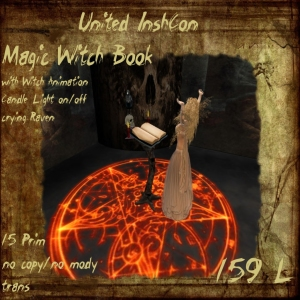 UI Magic Witch Book