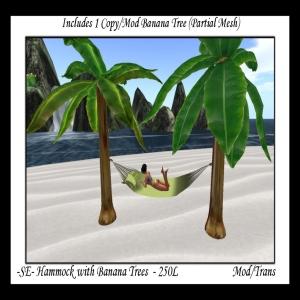 -SE- Hammock wBanana Trees
