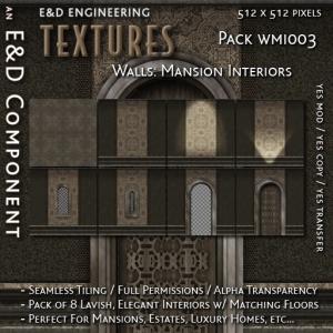 E&D ENGINEERING_ Textures - Walls Mansion Interiors WMI003