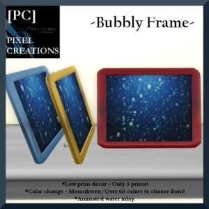 [PC] PIXEL CREATIONS - BUBBLY FRAME W_COLOR CHANGE