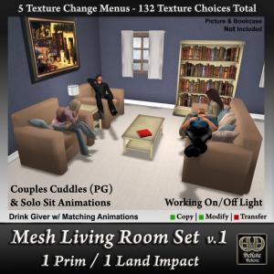 1 Prim Mesh Living Room-v1