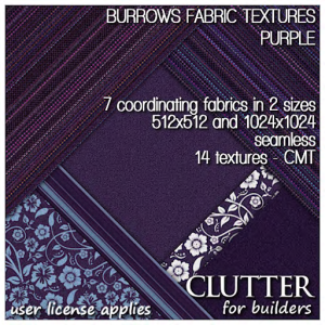 Clutter for Builders - Burrows Fabric Textures Purple