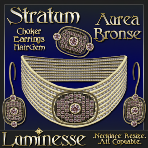 _LUM-STRATUM Aurea Bronse Choker Set