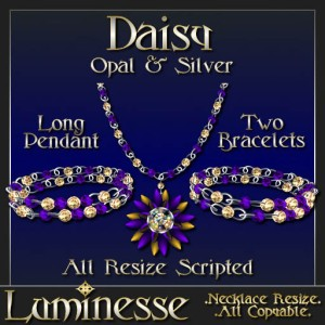 _LUM-Daisy Set - Opal & Silver