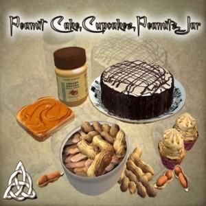 Peanuts pack with cake ,Cupcakes,Peanuts,Peanut jar