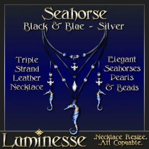 _LUM-Seahorse Set - Black & Blue Silver