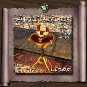 (RVi Design) Vampire's Floor Candelabra
