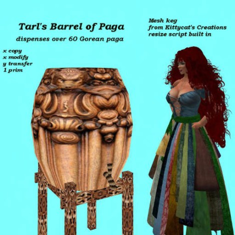 Tarl's Barrel of paga mesh photo
