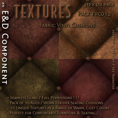 E&D ENGINEERING_ Textures - Fabric Vinyl Cushions FVC012_t