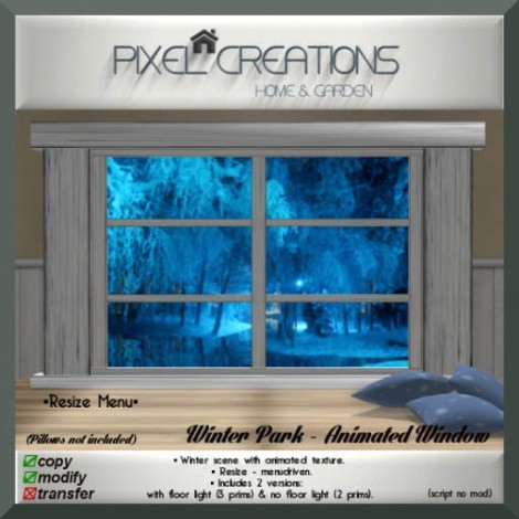 [PC] PC PIXEL CREATIONS -WINTER PARK ANIMATED WINDOW
