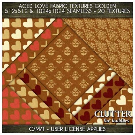 Clutter - Aged Love Fabric Textures Golden